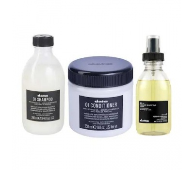 Davines OI/OIL Şampuan 280ml + Krem 250 ml + OI OIL İksir 135 ml